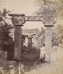 Kirstistambha gateway at entrance to the Galaganatha Temple Group, Aihole